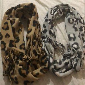 Leopard Fleece Scarves